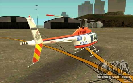 Bell 206 B Police texture2 for GTA San Andreas right view