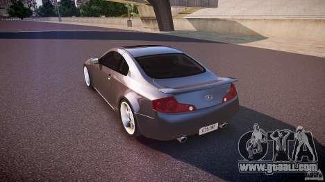 Infiniti G35 v1.0 for GTA 4 back left view