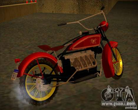 1923 ACE 1200cc for GTA San Andreas back left view