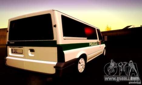 Ford Transit Policija for GTA San Andreas inner view
