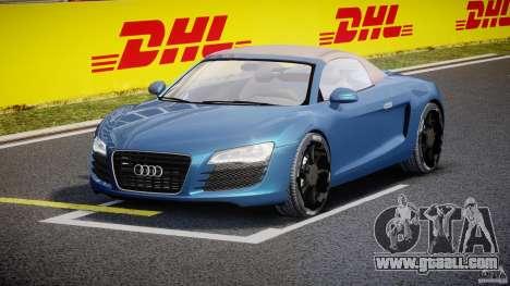 Audi R8 Spyder v2 2010 for GTA 4 back view
