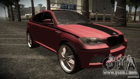 BMW X6 Lumma for GTA San Andreas inner view