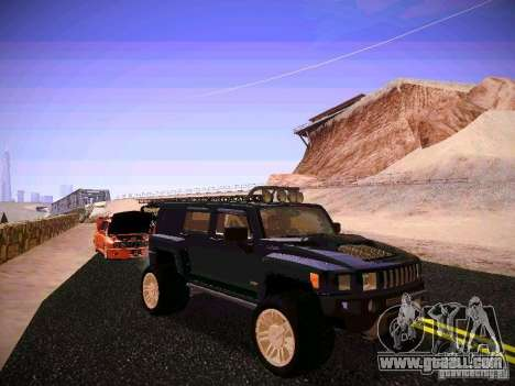 Hummer H3R for GTA San Andreas back view