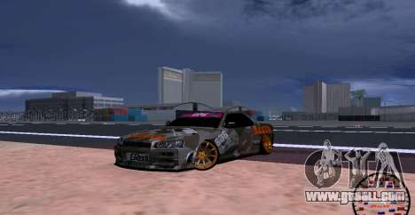 Nissan Skyline GTR34 MAXXIS for GTA San Andreas