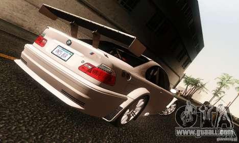 BMW M3 GTR v2.0 for GTA San Andreas left view