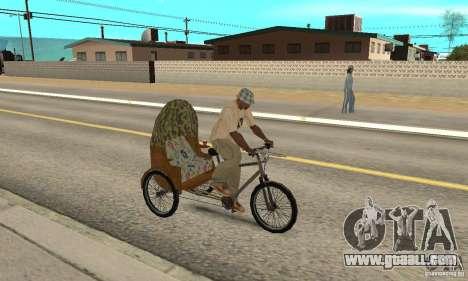 Manual Rickshaw v2 Skin2 for GTA San Andreas right view