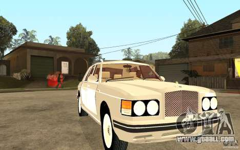 Bentley Turbo RT for GTA San Andreas back view