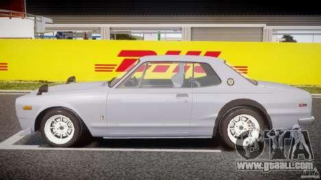 Nissan Skyline 2000 GT-R Drift Tuning for GTA 4 left view