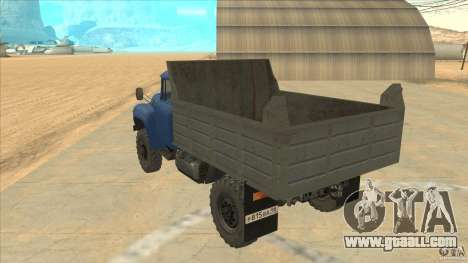 ZIL-MMZ 4502 four-wheel drive for GTA San Andreas back left view