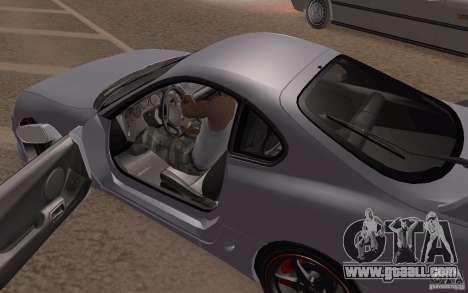 Toyota Supra Mark IV for GTA San Andreas inner view