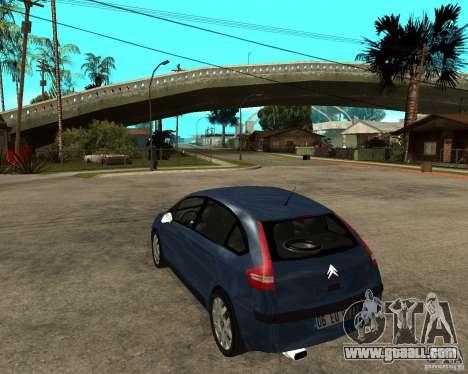 Citroen C4 SX 1.6 HDi for GTA San Andreas back left view