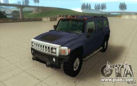 Hummer H3 for GTA San Andreas back view