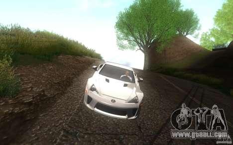 Lexus LFA for GTA San Andreas side view