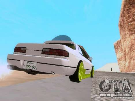 Nissan Silvia S13 Drift Style for GTA San Andreas back view