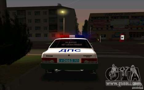 Vaz 21099, police for GTA San Andreas back left view