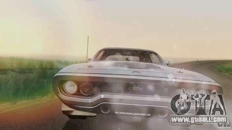 Plymouth GTX 426 HEMI 1971 for GTA San Andreas inner view