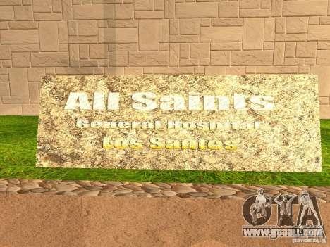 The New Hospital for GTA San Andreas sixth screenshot