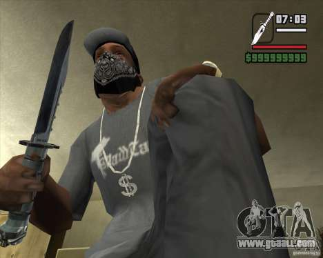 The knife of the stalker's no. 3 for GTA San Andreas second screenshot
