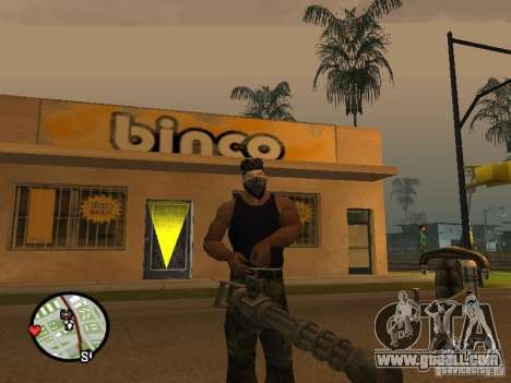 M134 Minigun from CoD: Mw2 for GTA San Andreas second screenshot