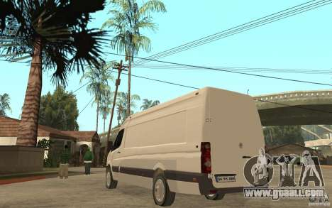 Volkswagen Crafter 2010 TDI for GTA San Andreas back left view