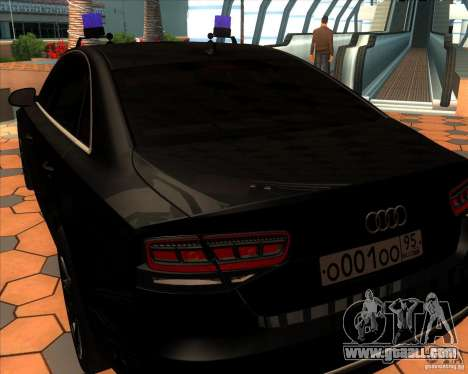 Audi A8 2010 v2.0 for GTA San Andreas right view
