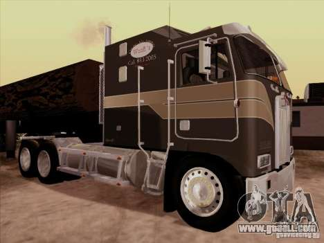 Kenworth K100 Aerodyne for GTA San Andreas back left view