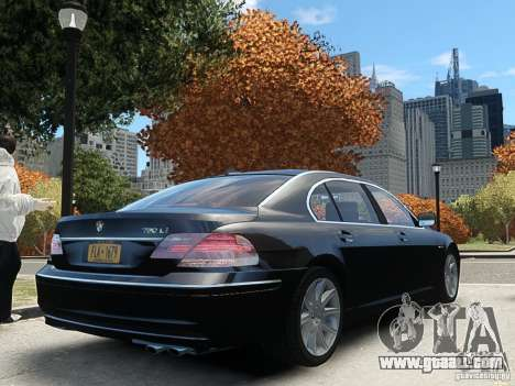 BMW 7 Series E66 2011 for GTA 4 left view