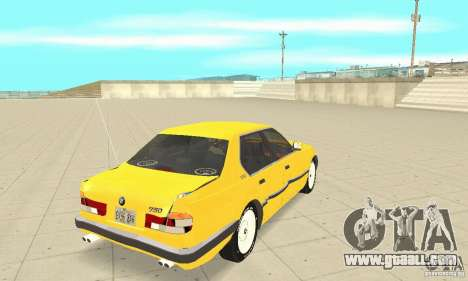 BMW 750I E32 for GTA San Andreas side view
