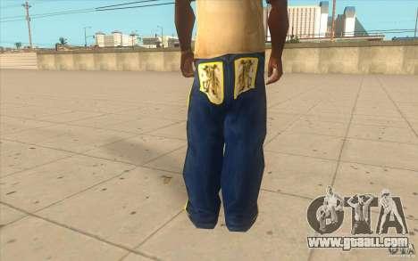 Karl Kan Puzzle Jeans for GTA San Andreas third screenshot