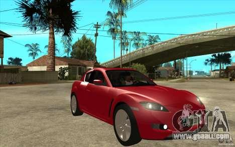Mazda RX8 for GTA San Andreas back view