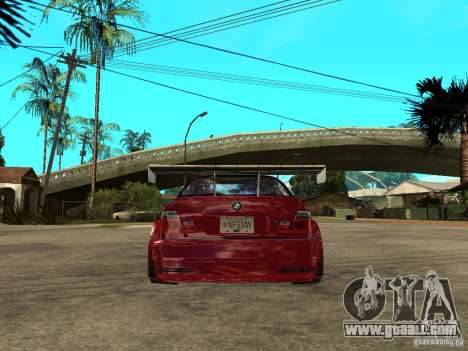 BMW M3 GTR Le Mans for GTA San Andreas back left view