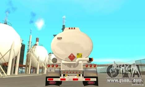 Peterbilt 379 Custom And Tanker Trailer for GTA San Andreas upper view