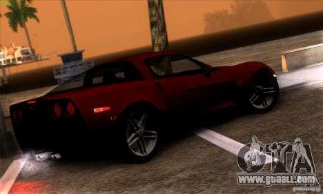 Chevrolet Corvette Z06 for GTA San Andreas inner view