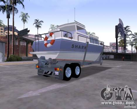 Boat Trailer for GTA San Andreas left view