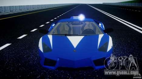 Lamborghini Reventon Polizia Italiana for GTA 4 engine