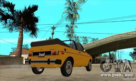 Volkswagen Rabbit Convertible for GTA San Andreas right view