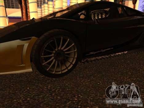 Lamborghini Gallardo Underground Racing for GTA San Andreas back view
