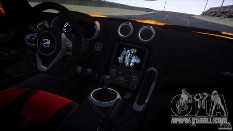 Dodge Viper GTS 2013 v1.0 for GTA 4 upper view