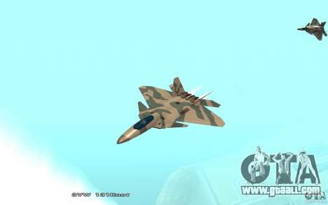 F/A-22 Velociraptor for GTA San Andreas left view