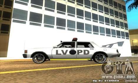 Police Hero v2.1 for GTA San Andreas left view