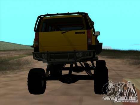 Hummer H3 Trial for GTA San Andreas back left view