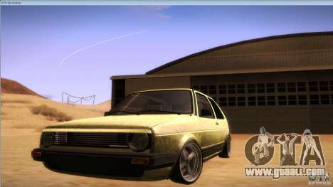 Volkswagen Golf MK II for GTA San Andreas right view