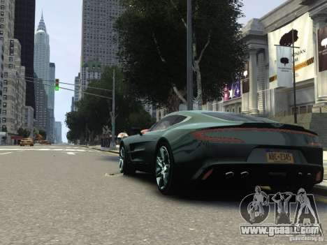 Aston Martin One 77 2012 for GTA 4 right view