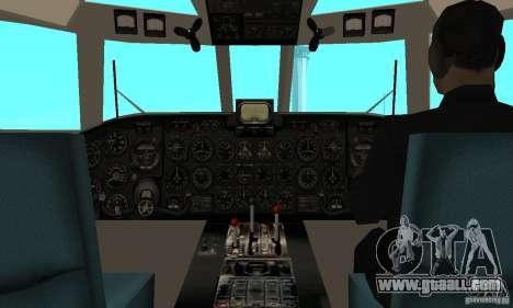 Antonov an-24 for GTA San Andreas right view