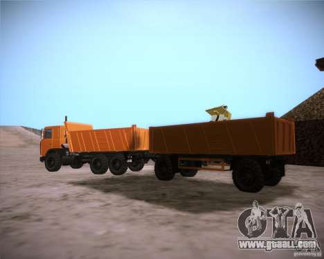 6317 MAZ for GTA San Andreas right view