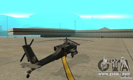 An-64 Apache for GTA San Andreas back left view