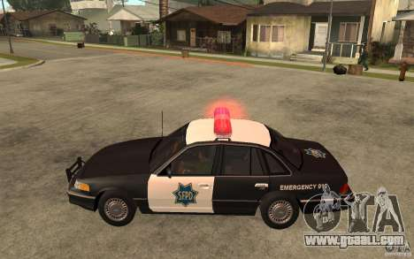 Ford Crown Victoria SFPD 1992 for GTA San Andreas left view