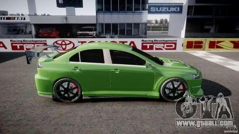 Mitsubishi Lancer Evolution X Tuning for GTA 4 left view