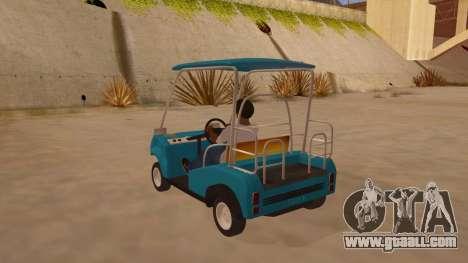Golf kart for GTA San Andreas back left view