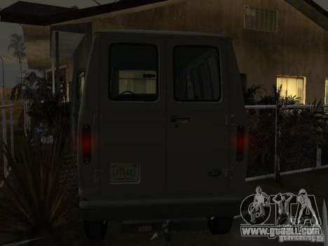 Ford E-150 1979 for GTA San Andreas back view